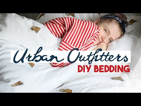 DIY Urban Outfitters bedding ✂