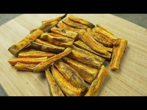 How to Make Crispy Healthy Sweet Potato Fries without OIL!
