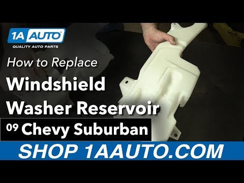 How to Replace Install Windshield Washer Reservoir 07-14 Chevy suburban