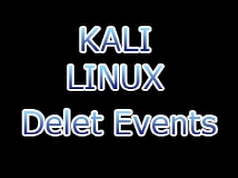 Kali Linux - Deleting Event Log in Hacked System