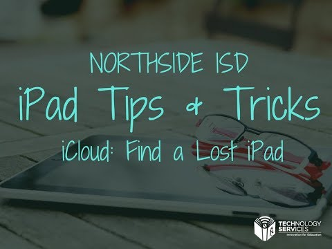 iCloud: Find a Lost iPad
