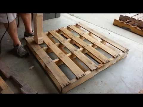 Pallet Recycling With A Drill Powered Dismantling Tool.