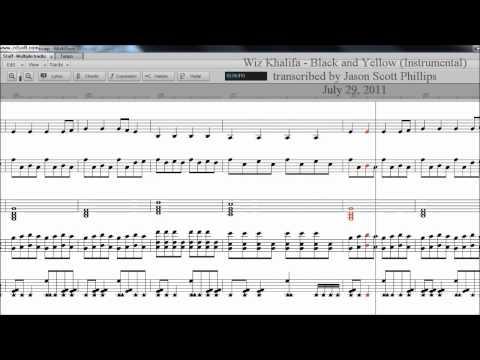 Black & Yellow Sheet Music - Jason Scott Phillips