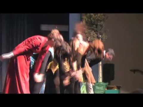 Children get a taste for drama with makeup, stage combat