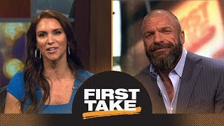 Stephanie McMahon and Triple H discuss history and growth of WWE WrestleMania | First Take | ESPN