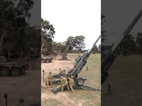 M777 155mm Gun Firing