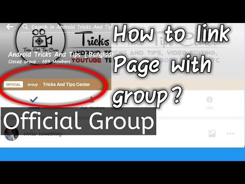 How To Link or Connect Facebook Group with Page