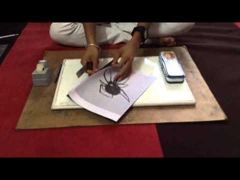 how to trace any drawing or picture(spider)
