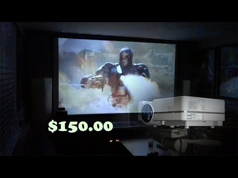 "130"" Home Projector set up for under $150.00"