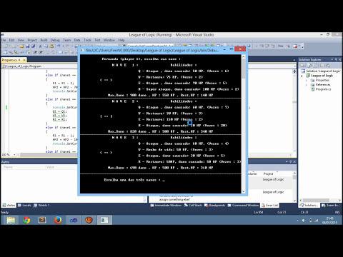 League of Logic, Jogo em C# Visual Studio 2010 ( Console Application ).