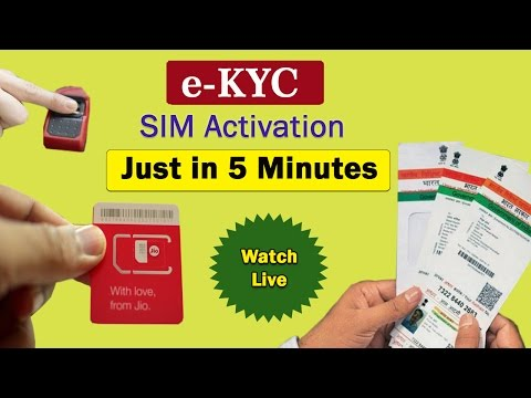 Reliance Jio SIM Activation In 5 Minutes Via e-KYC - Watch Live