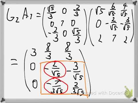 Numerical QR factorization with Givens rotation Example 1