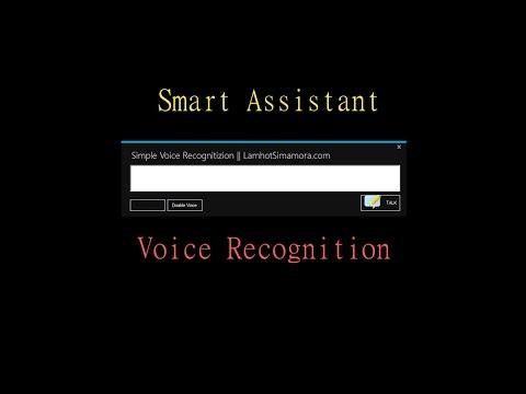 My Smart Assistant || Voice Recognition C#.Net || GoSmart #part1