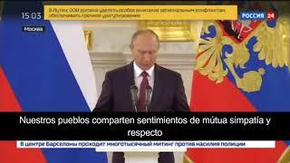 Putin habla del referéndum catalán.