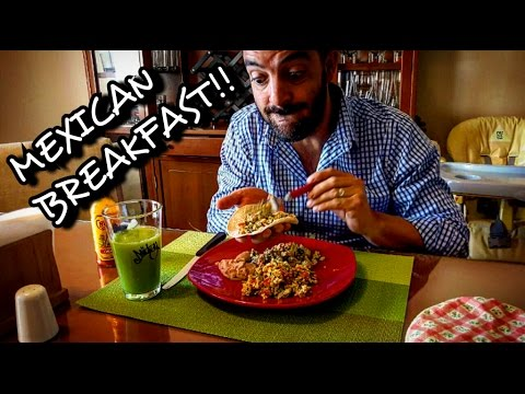 MEXICAN FOOD BREAKFAST, MUKBANG!!!! CACTUS AND EGGS!!!! HOW TO...