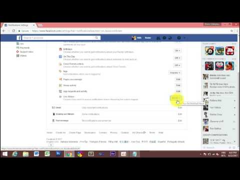 how to close notifications live on facebook-របៀបបិទ notification live-2017