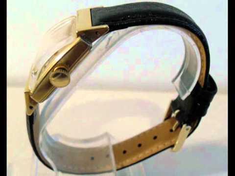Mens Classic Leather Bulova Handwind Dress Watch