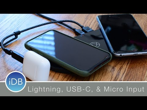 Lxory Wireless Charger has Lightning, USB C, and Micro USB Input