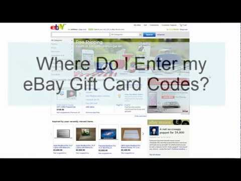 Where do I enter my eBay Gift Card Codes? - JunoWallet & BambooWallet FAQ's