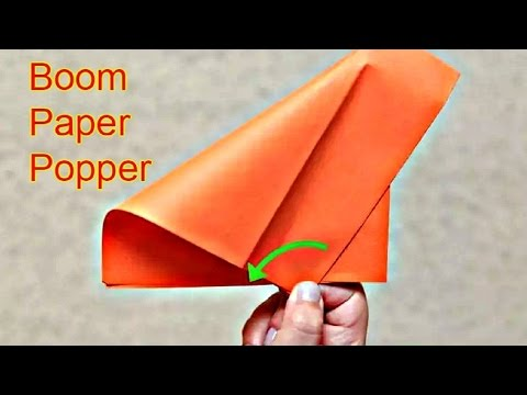 How to Make a Paper Popper! (Easy and Loud)