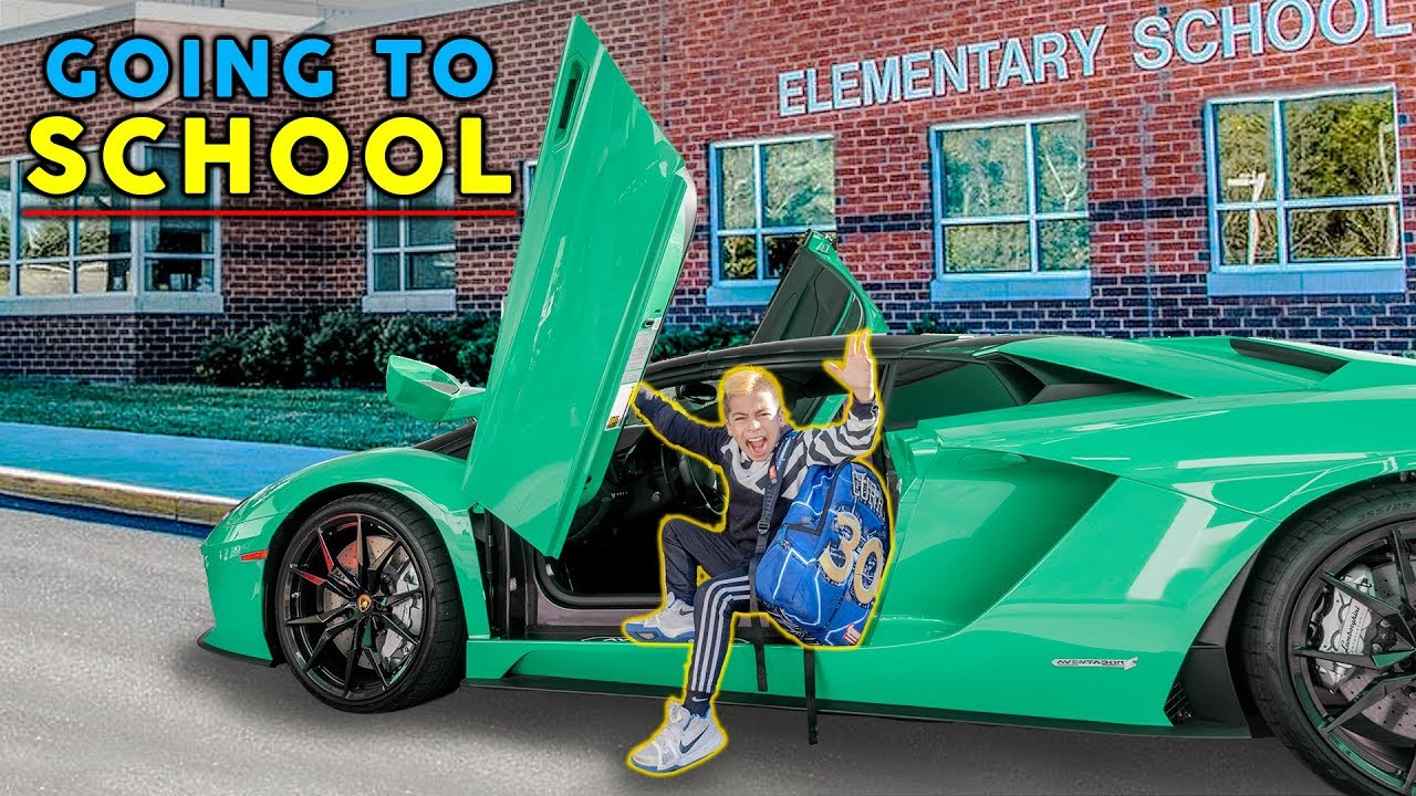GOING TO SCHOOL IN A LAMBORGHINI!   The Royalty Family