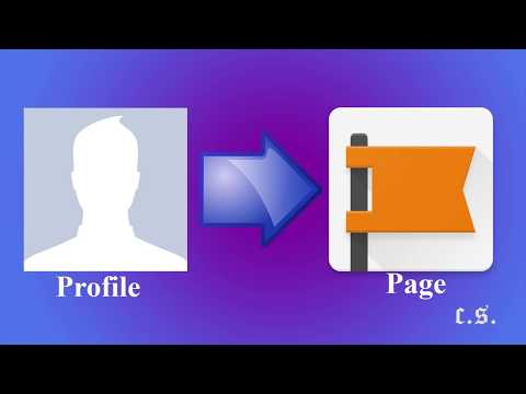 How to convert facebook account to page-2018.