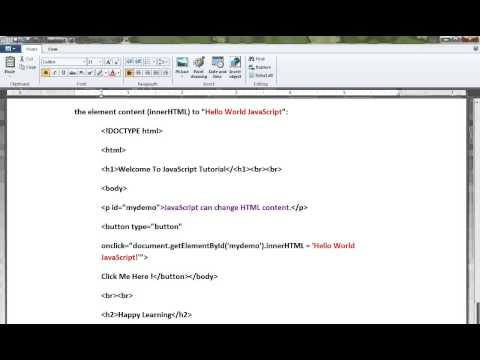 HOW TO CHANGE HTML CONTENT JAVASCRIPT DEMO