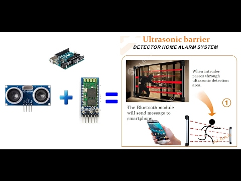 How to make an ultrasonic home security system!
