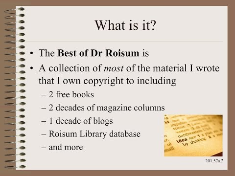 Web20157 - Web Handling Resources - The Best of Dr Roisum