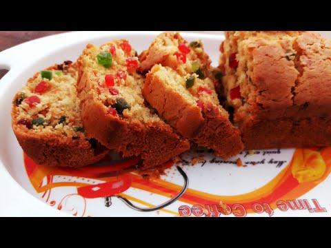 eggless tutti frutti cake  in the pressure cooker Recipe In Hindi