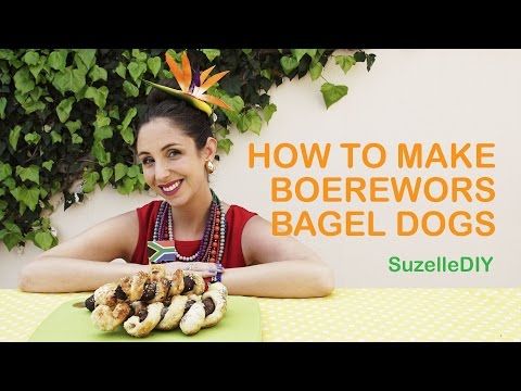 How to Make Boerewors Bagel Dogs