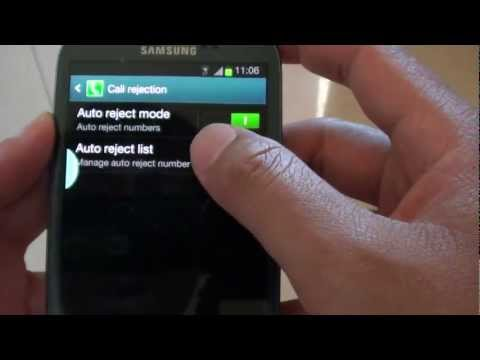 Samsung Galaxy S3: How to Automatically Block Unknown Number