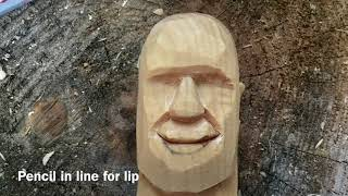 Carving a Character Face (step by step)