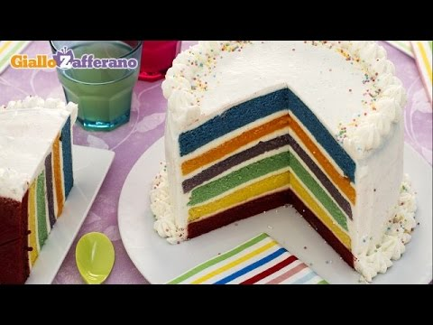 Rainbow cake - kid friendly recipe