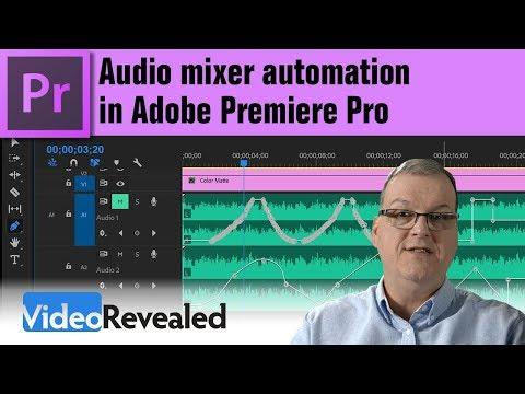 Audio mixer automation in Adobe Premiere Pro