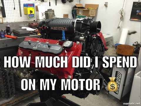 How much did it cost to build my motor?