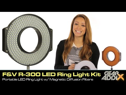 F&V R-300 LED Ring Light with L-Bracket & Magnetic Diffusion Filters