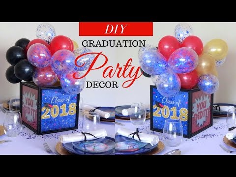 DOLLAR TREE GRADUATION IDEAS | SUPER EASY & AFFORDABLE GRADUATION PARTY DECORATIONS |