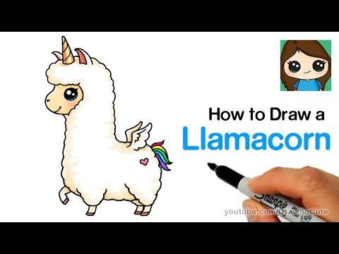 How to Draw a Llamacorn Easy and Cute