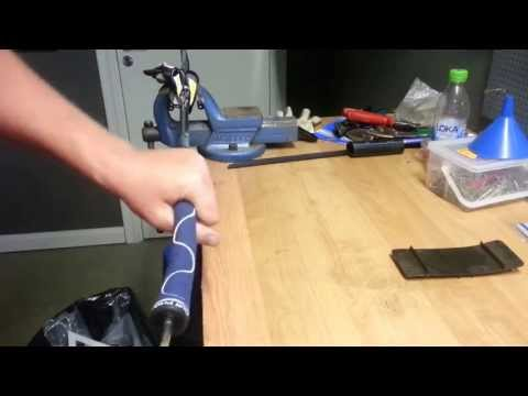 Replace golf grip using compressed air