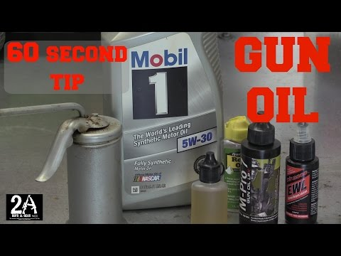 60 second tip #2; Using Mobil 1 for your gun oil