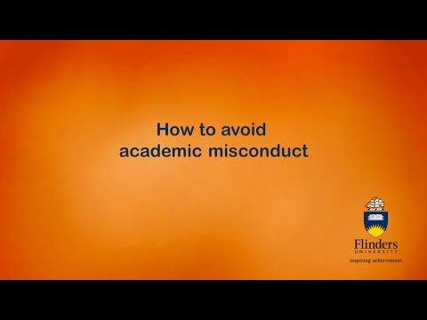How to avoid academic misconduct