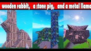 Fortnite Visit A Wooden Rabbit A Stone Pig And A Metal Llama Videos