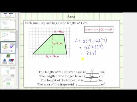 Determine the  Area of a Trapezoid on a Grid