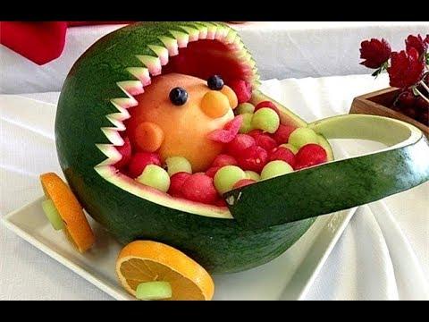Trang trí đĩa trái cây lạnh - xếp đĩa trái cây - How to Make yummy
