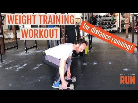 Distance Running Weight Training Workout With Dumbbells