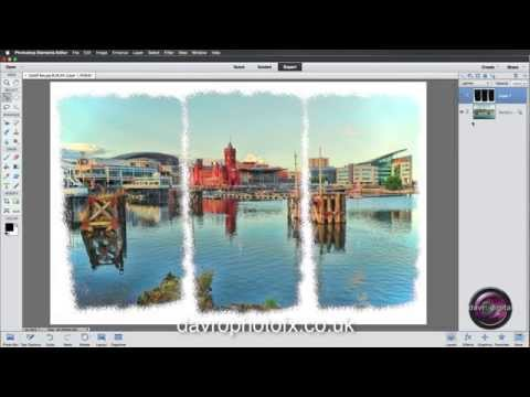 Creating a Painted Triptych frame - Photoshop Elements