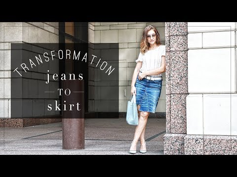 DIY   Denim Jeans to Skirt Transformation   Szilvia Bodi