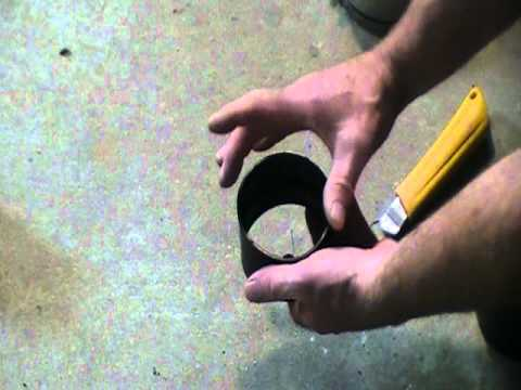 How to join cast iron pipe to abs,pvc or copper pipe using an MJ coupling.