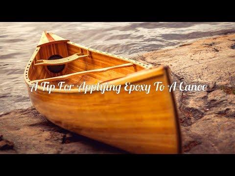 Applying Epoxy to a Cedar-strip Canoe Tip